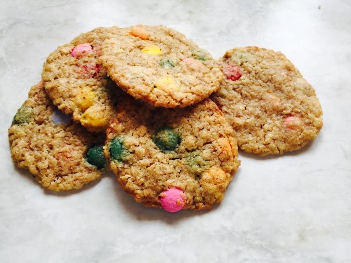 Bunte Geburtstags-Cookies